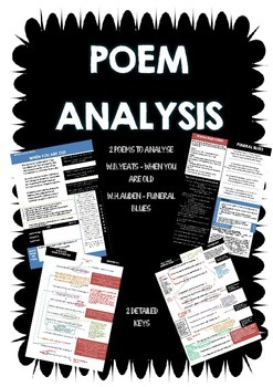 Poem analysis - W.B.Yeats - When You Are Old, W.H.Auden -