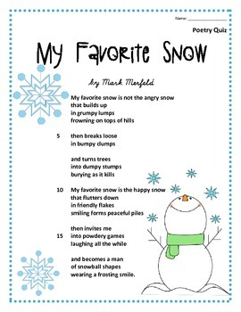 Poem and Quiz- My Favorite Snow