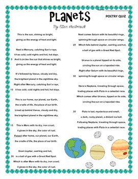 Poem and Quiz- Planets