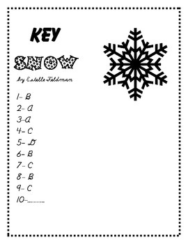 Poem and Quiz- Snow