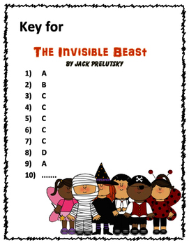 Poem and Quiz- The Invisible Beast