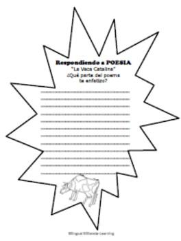 Poem in SPANISH-La Vaca Catalina-NO PREP!