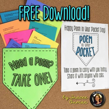 Free Poem in Your Pocket Day Printable Poems to Celebrate Poetry