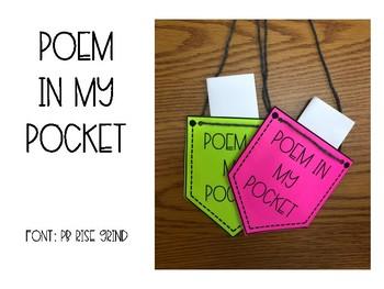 Poem in Your Pocket Freebie