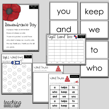 Poem of the Week Bundle & Activities for Shared Reading: Remembrance Day & Food