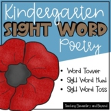 November Sight Word Poetry   Literacy Center Activities