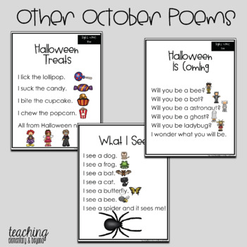 Poem of the Week & Activities Poetry for Shared Reading Halloween & Thanksgiving