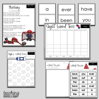 Poem of the Week & Activities Original Poetry for Shared Reading Winter & Hockey