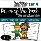 Poem of the Week & Activities Original Poetry for Shared R