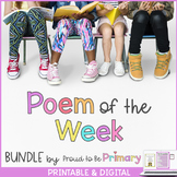 Poem of the Week BUNDLE for Interactive Poetry (65 poems + 20 nursery rhymes)