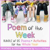 Poem of the Week BUNDLE | 85 Poems & Activities | Digital & Printable | Distance