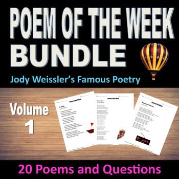 Poem of the Week Bundle Vol.1 (20 Poems & questions)NO PREP poetry for 20 weeks.