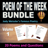 Poem of the Week Bundle Vol.1 (20 Poems & questions) Poem of the Week Collection