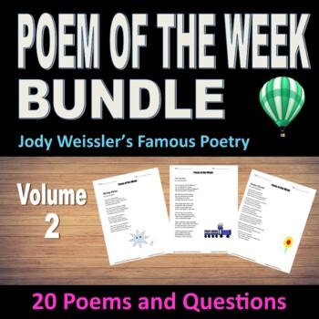 Poem of the Week Bundle Volume 2 (20 original poems with questions)
