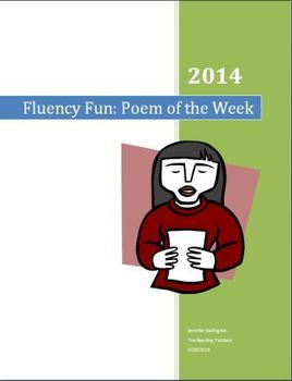 Poem of the Week and Fluency Anchor Chart with labels