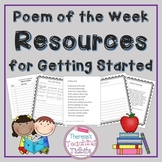 Poem of the Week Resources for Getting Started