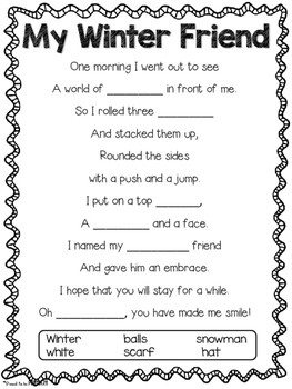 winter snowman poem by proud to be primary teachers pay. Black Bedroom Furniture Sets. Home Design Ideas