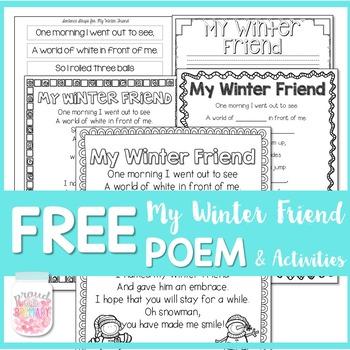 Winter Snowman Poem