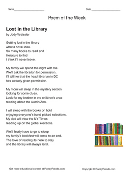 Poem of the Week   Lost In the Library by Jody Weissler