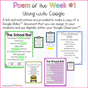 Poem of the Week - 20 poems for September to January to teach poetry