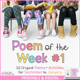 Poem of the Week #1 - 22 poems for September to January to