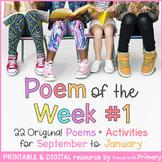 Poem of the Week | 22 Sept to Jan poems | Digital & Printable | Back to School