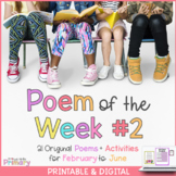 Poem of the Week 2 | 21 poems for Feb. to June | Digital & Printable | Distance