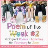 Poem of the Week 2 | 21 poems for Feb. to June | Digital &