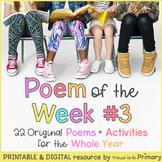 Poem of the Week 3   22 poems + activities   Digital & Printable   Distance