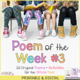 Poem of the Week 3 | 22 poems + activities | Digital & Pri