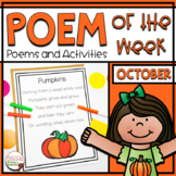 Poem of the Week | Poems and Activities for October