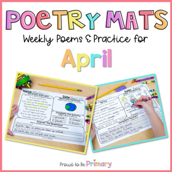 Poem of the Week Poetry Activity Mats for April