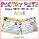 Poem of the Week Poetry Activity Mats for April  | Distanc