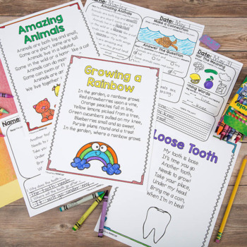 Poem of the Week Poetry Activity Mats for May