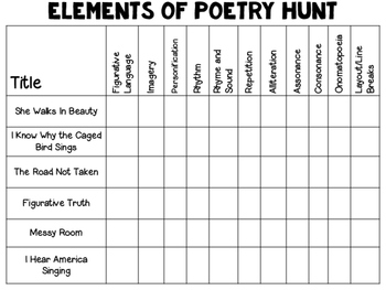 Poem of the Week: Poetry for BIG kids! {Foldables for a reading journal}