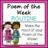 Poem of the Week Routine
