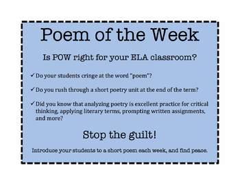 Poem of the Week - Sample