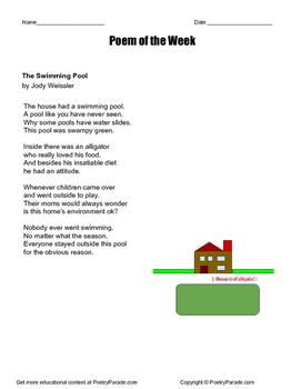 "Poem of the Week ""The Swimming Pool"" by Jody Weissler"