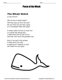 Poem of the Week The Whale Watch by Jody Weissler with question