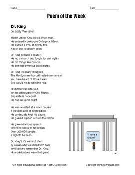 Poem of the Week Volume #3   NO PREP poetry bundle for each week with questions