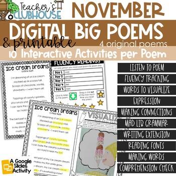 Poem of the Week {Weekly Poem Work} - November Edition