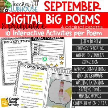 Poem of the Week {Weekly Poem Work} - September Edition