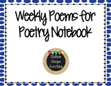 Poem of the Week for Poetry Notebooks