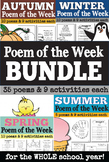 Poem of the Week for the Whole School Year BUNDLE