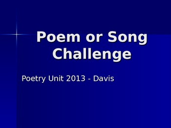 Poem or Song Challenge