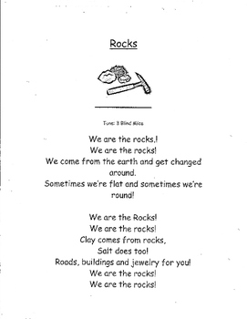 Poem/song  about Minerals and Rocks/Primary