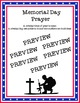 Poem titled Memorial Day Prayer