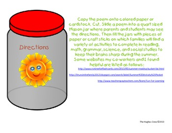 Poem for Summer School in a Jar