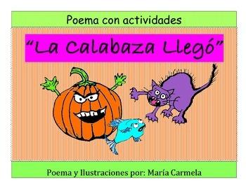 Poema con Actividades - La Calabaza Llegó