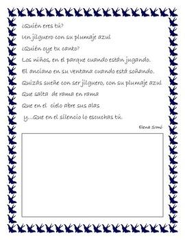 Poema para niños.¿ Quién eres tú?